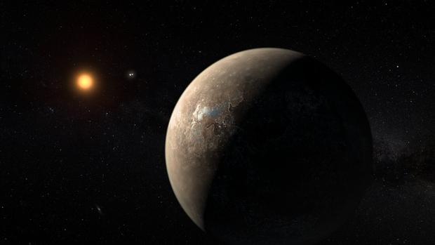Representación artística de Próxima b, una potencial Tierra detectada cerca de Próxima b