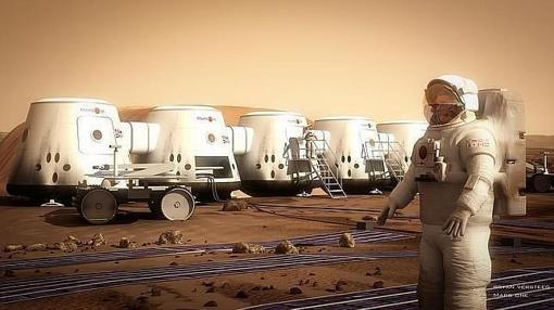 Recreación de los módulos habitables diseñados por la misión Mars One