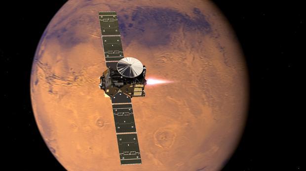 La Trace Gas Orbiter, la sonda que buscará el posible origen del gas metano