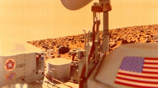 Imagen tomada por la Viking II en 1975