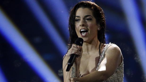 Ruth Lorenzo, durante su actuación en la final de Eurovisión 2014