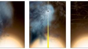 Observan un agujero negro «casi desnudo» y a la fuga