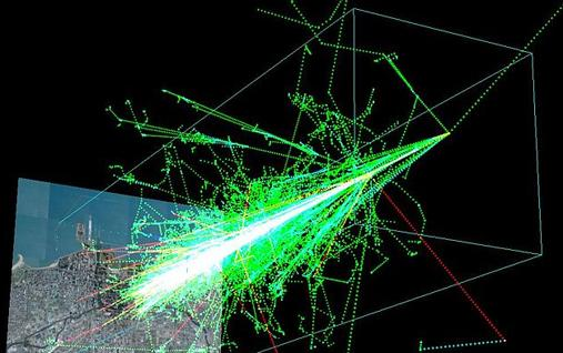 Simulación de una cascada de rayos cósmicos