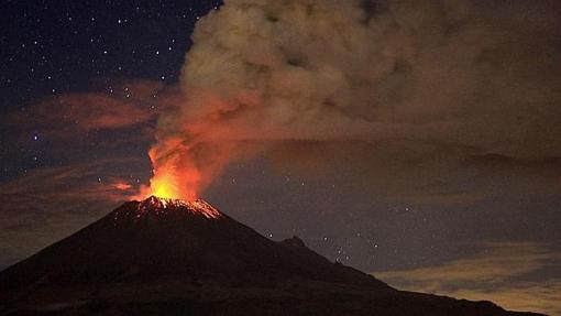El volcán Popocatepetl de México, en una imagen de archivo