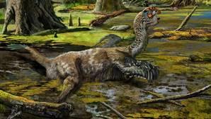 El extraño dinosaurio despatarrado