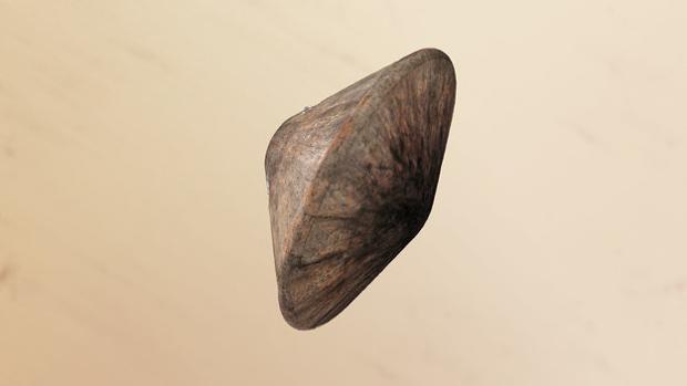 Representación del módulo Schiaparelli, cubierto por un escudo protector para su entrada en la atmósfera de Marte