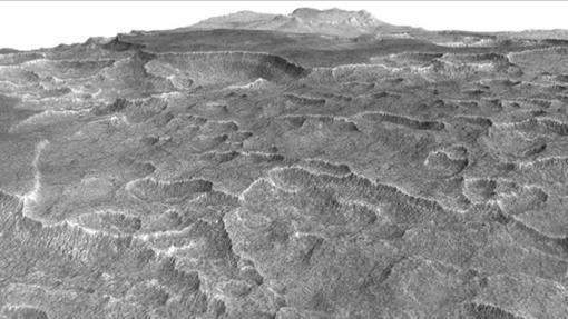 Bajo Utopia Planitia hay grandes cantidades de hielo acumulado