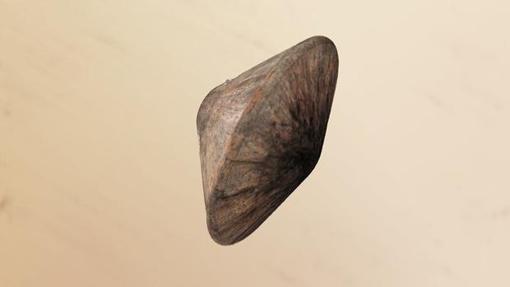 Representación del módulo, protegido por su escudo térmico, en el momento de entrar en la atmósfera de Marte. Se estrelló el pasado 19 de octubre