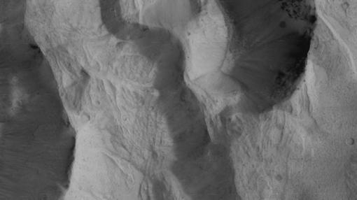 Fotografía de la garganta Hebes Chasma