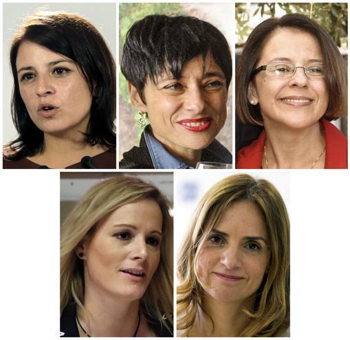 Adriana Lastra, Rocío de Frutos, Sofía Hernanz, Zaida Cantera y Susana Sumelzo, castigadas ayer