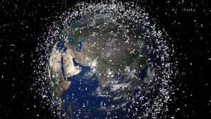 Imagen de archivo generada por la NASA de la basura espacial de 2009