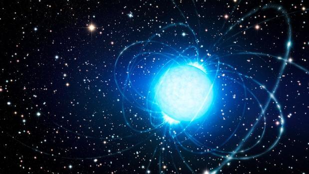 Representación de un magnetar