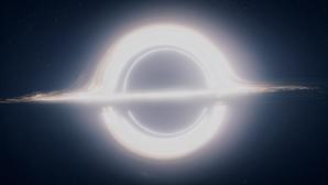 Simulación de un agujero negro aparecida en la película «Interestellar»
