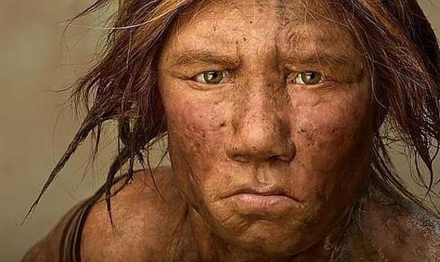 El homo descubierto está emparentado con los neandertales, en la imagen