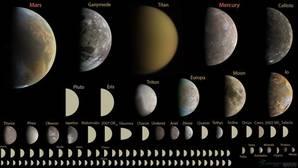 Algunas lunas, como Titán o Ganímedes, tienen un tamaño parecido al de planetas como Marte o Mercurio