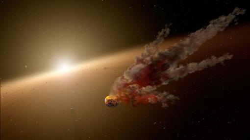 Posible explicación del brillo de Tabby: la destrucción de un planeta