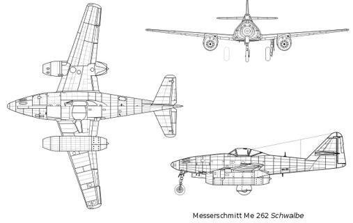 Diseño del Me 262, el temible caza propulsdo por turborreacción de la Alemania nazi