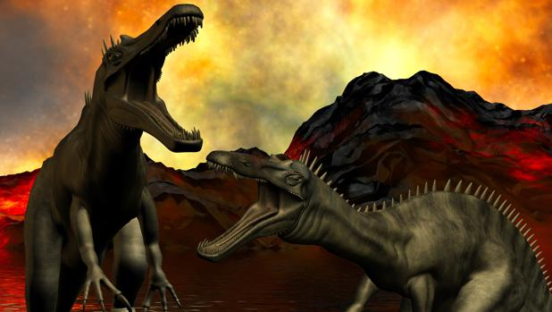 Los dinosaurios ocuparon el lugar de otras especies desaparecidas tras la hecatombe volcánica