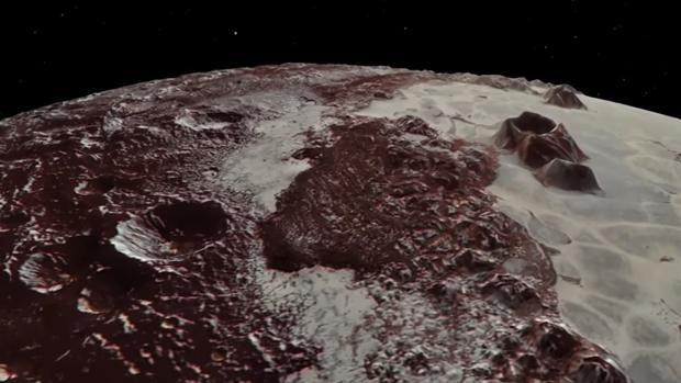 Imgagen del vídeo de la NASA de Plutón y Caronte