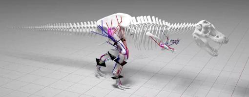 Imagen del modelo de movimiento del T. rex