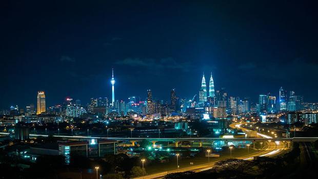 Vista aérea de Kuala Lumpur