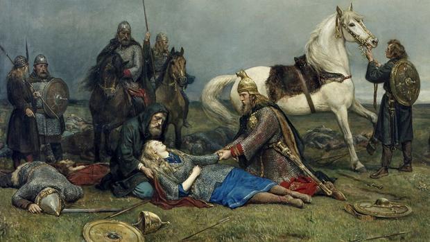 La muerte de Hervor, de Peter Nicolai Arbo
