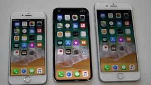 El iphone 8, el iphone X y el iphone 8S