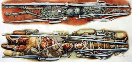 La tumba de los dos jóvenes de Sunghir