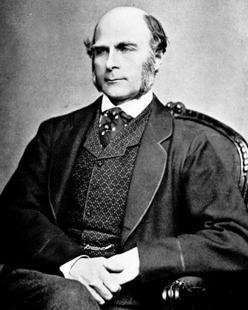 Fotografía del científico Francis Galton, hacia 1850