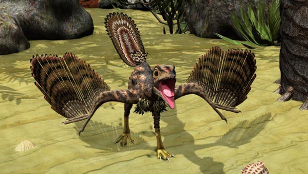 Recreación del Archaeopteryx