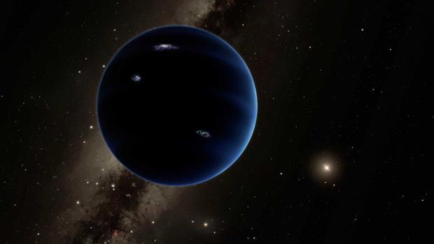 Recreación artística del enigmático Planeta 9