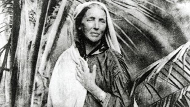 Marianne North, en su casa en Ceilán