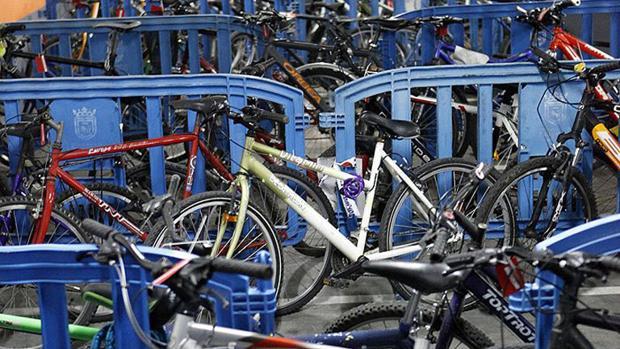 Depósito de bicicletas de Policía Municipal de Pamplona
