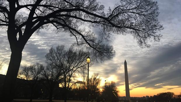 Hermosa imagen el día previo al solsticio en Washington, EE.UU.