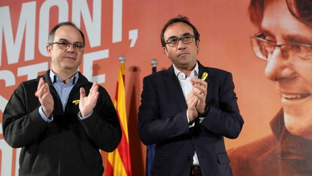 Jordi Turull y Josep Rull, durante la rueda de prensa