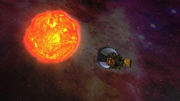 Ilustración de la sonda «Parker Solar Probe», que será enviada al Sol este año