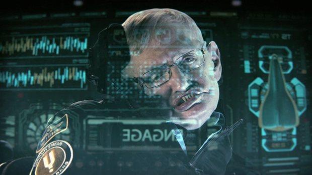 Fotografma de un documental protagonizado por Stephen Hawking