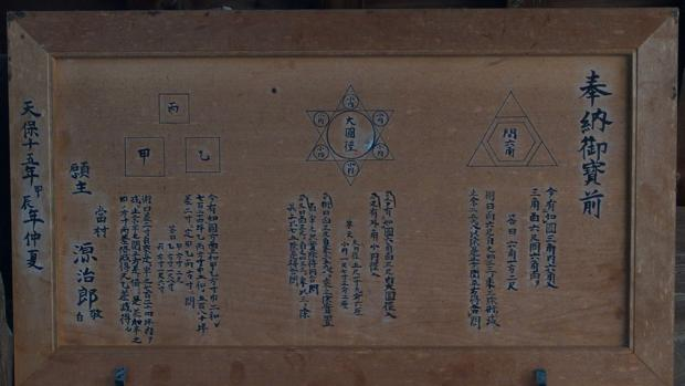 Una tablilla de Sangaku