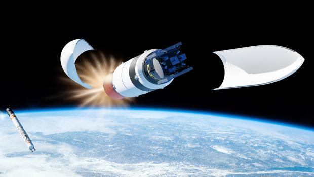 Representación del Arion 2, un cohete reutilizable de 20 metros de largo, diseñado para lanzar pequeños satélites al espacio