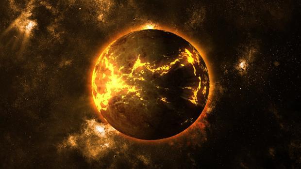 Representación de la formación de un exoplaneta