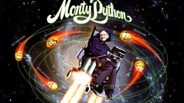 Stephen Hawking, en la portada de «Galaxy Song»