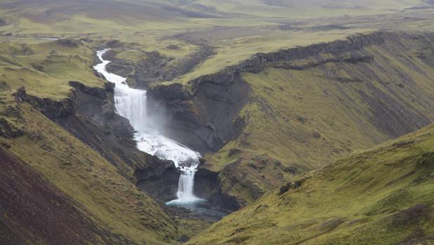 Parte de la fisura del Eldgjá al sur de Islandia