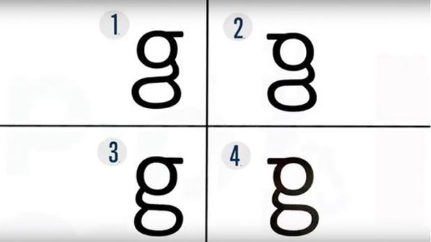 La mayoría de la gente no sabe escribir la letra g que aparece en los textos impresos y trazan figuras erróneas