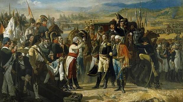 «La rendición de Bailén», cuadro de José Casado del Alisal que se exhibe en el Museo del Prado que escenifica al ejército de Napoleón derrotado en Andalucía