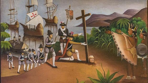 La impresión de Wilhem Berrouet de la llegada de Colón a América
