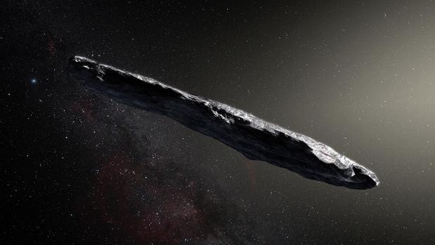 Recreación de Oumuamua