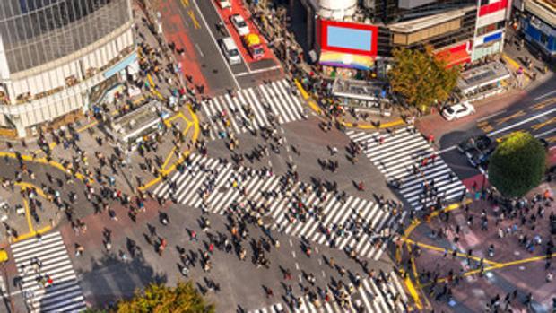 El famoso cruce de Shibuya en Japón