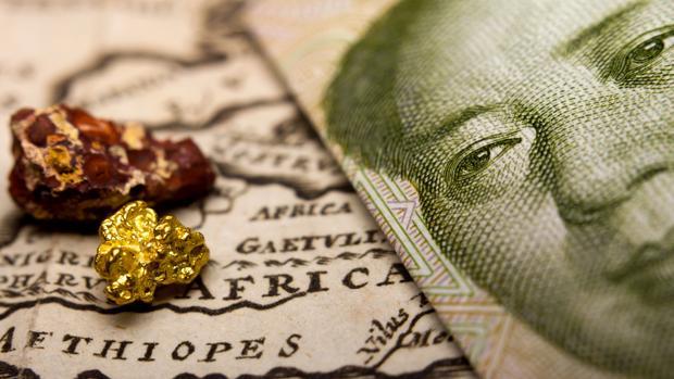 Metales de tierras raras sobre un mapa de China