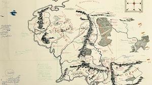 Aparece un mapa de «El señor de los anillos» con anotaciones de Tolkien