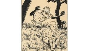 Un dibujo de Hergé para «Tintín en el Congo», vendido por 770.600 euros